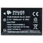 Аксессуар для фото и видео PowerPlant Аккумулятор Kodak KLIC-5001, DB-L50 1800mAh
