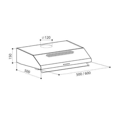 Вытяжка Posiflex SIMPLE 2M 600 W (CHAT000019)