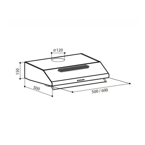Вытяжка Posiflex SIMPLE 2M 600 (CHAT000018)