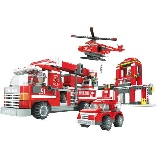 Аксессуар Ausini Игровой конструктор Пожарная бригада: Штаб пожарной бригады (21901)