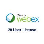 Лицензия Cisco Webex Meetings на 20 пользователей